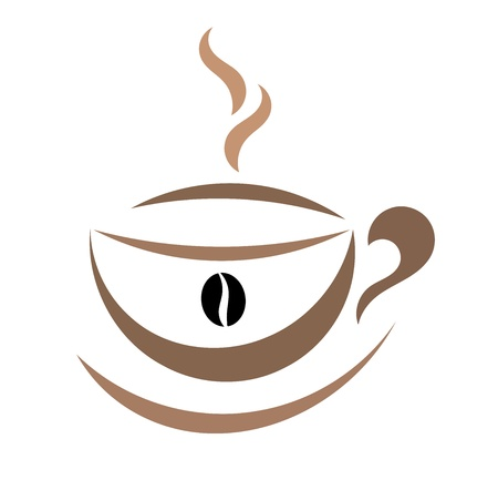 Coffee cup symbol - vector illustration Stock Vector - 16840656