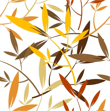 Autumn leaves - seamless pattern Stock Vector - 16842601
