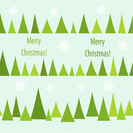 Christmas trees seamless pattern. Vector