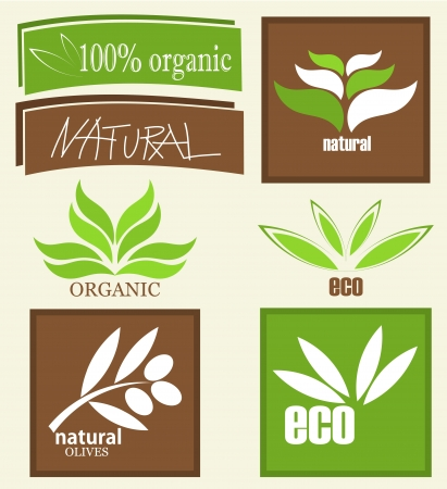 Eco and organic product labels. Stock Vector - 16942842
