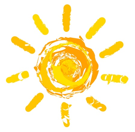 Sun. Vektorové ilustrace