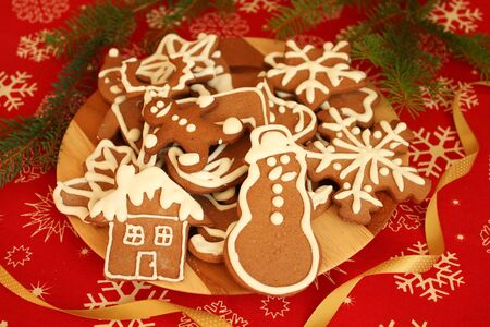 Gingerbread cookies - Christmas sweet food photo
