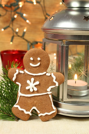 Gingerbread man. Christmas photo