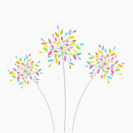 Abstract colorful flowers. Vector illustration