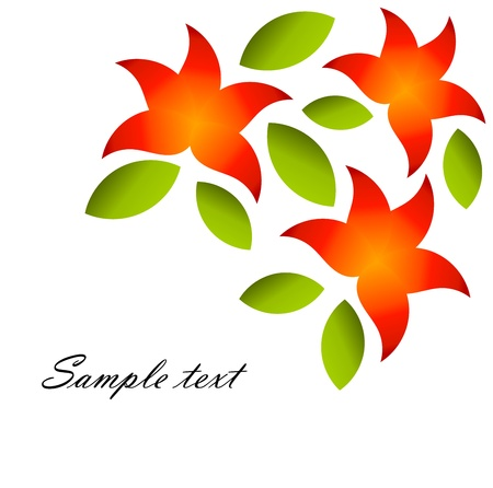 Red flowers background - vector illustration Stock Vector - 17389808