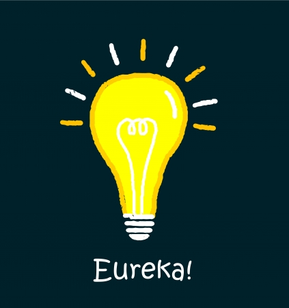 Light bulb 'eureka'. Stock Vector - 17519730