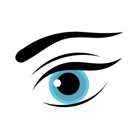 yeux maquill�: Belle femme yeux bleus. Illustration