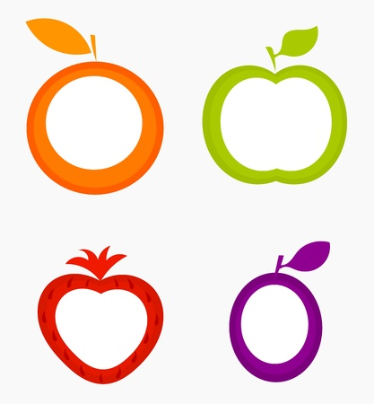 yellow apple: Fruit labels