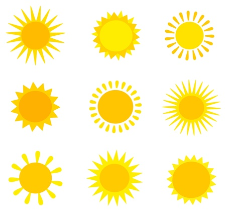 Sun collection. Stock Vector - 17519710