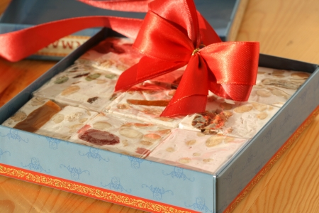 pastila: Nougats with fruits and nuts. Sweet gift