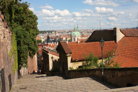 Prague landmark. View from Hrandcany hill photo