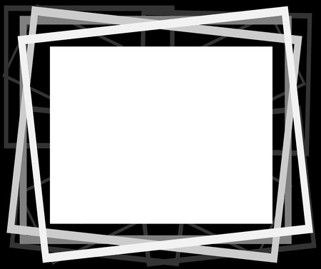 photo backdrop: Abstract frames -  illustration