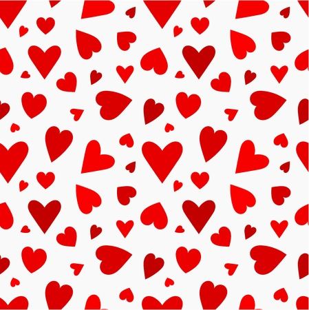 Red hearts seamless pattern. Valentine's day Stock Vector - 17685241