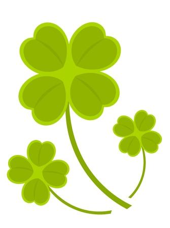 Clovers leaves -  illustration Illustration