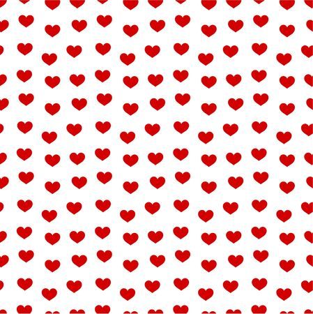 Red hearts - seamless  pattern Stock Vector - 17685260