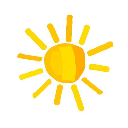 De zon - illustratie