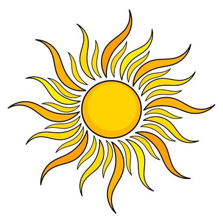 słońce: Niedz ikony. ilustracja Ilustracja