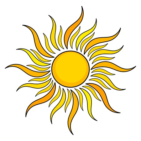 sun ray: Sun icon. illustration Illustration