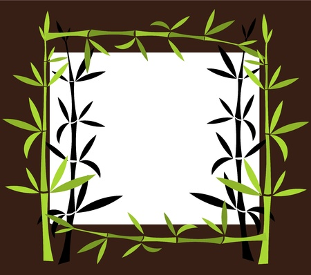 Green Bamboo border. Vector illustration Stock Vector - 17801123