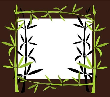Green Bamboo border. Vector illustration Stock Vector - 17801123