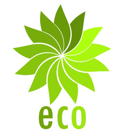 Eco symbol. Vector illustration Vector