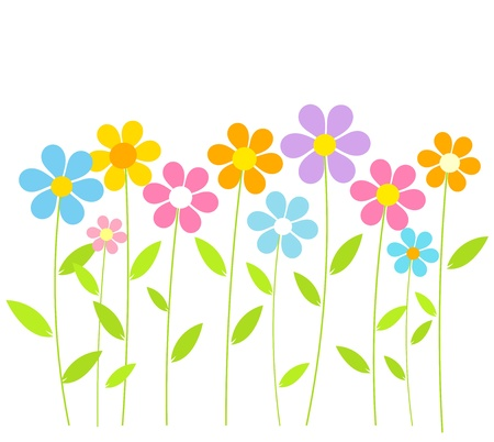 Spring flowers growing. Vector illustration Stock Vector - 17801129