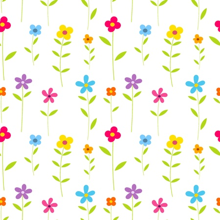 Cute flowers - seamless vector pattern Vector