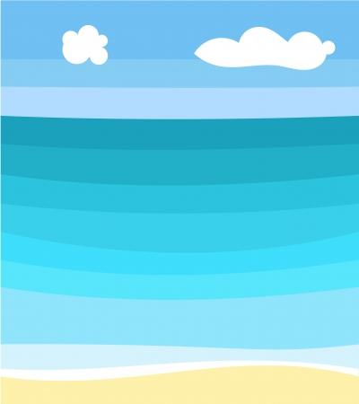 sea scape: Sea scape and beach.