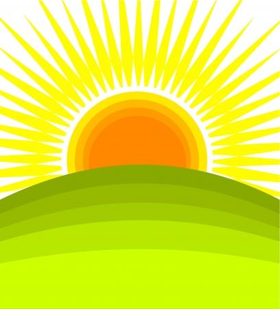 daybreak: Salida del sol - ilustraci�n vectorial