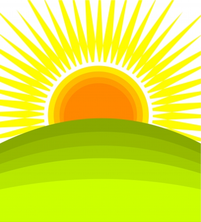 sunrays: Sunrise - vector illustration