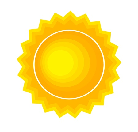 Sun icon or symbol. Vector illustration Stock Vector - 18137218
