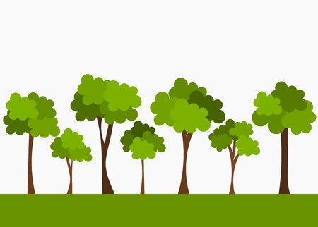 Trees. Vector illustration Illustration