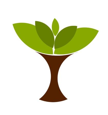 추상적 인 기호 나무 그림