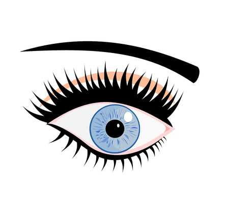 Mysterious female blue eye with make up Stock Vector - 18545013