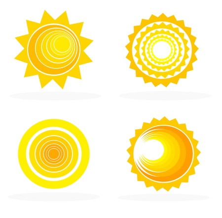 Abstract sun icons collection - vector illustration Stock Vector - 18545011