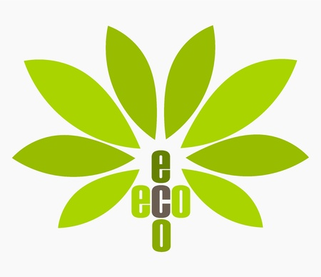 Green ecology eco symbol. Vector illustration Vector