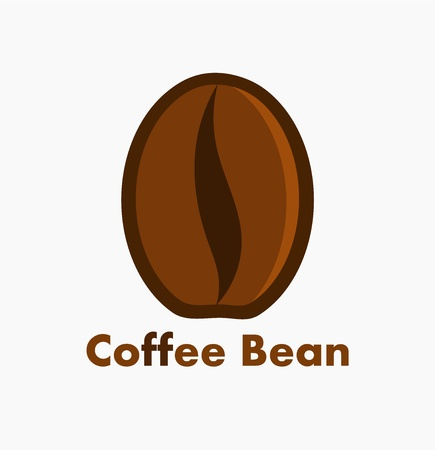 Coffee bean symbol or icon. Vector illustration Vector