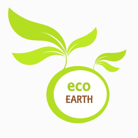 Eco earth concept. Vector illustration Vector
