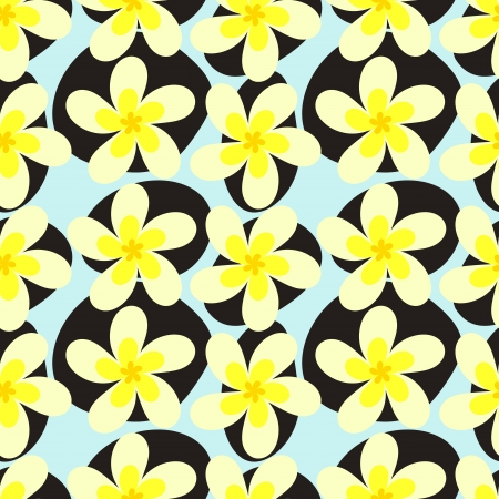 exoticism: Frangipani and zen stones - spa seamless texture