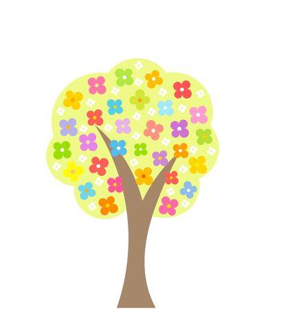 abloom: Primavera �rbol floreciente. Ilustraci�n vectorial Vectores