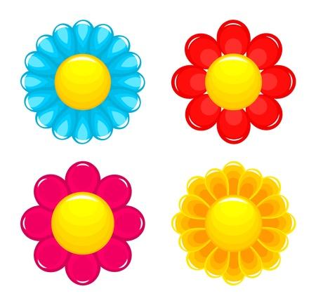 daisy flower: Flowers heads. Vector illustration