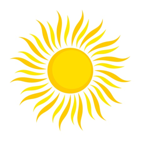 sun rays: Sun icon. Vector illustration on white background