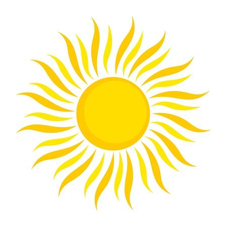 Sun icon. Vector illustration on white background