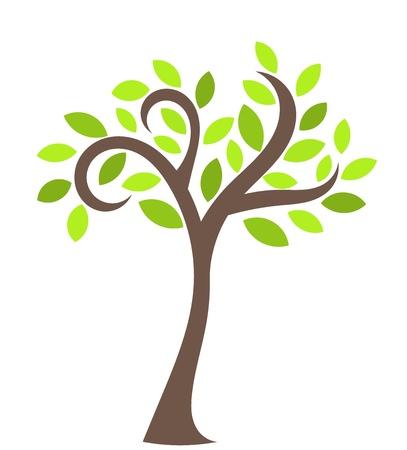 simple life: Tree - symbolic vector illustration