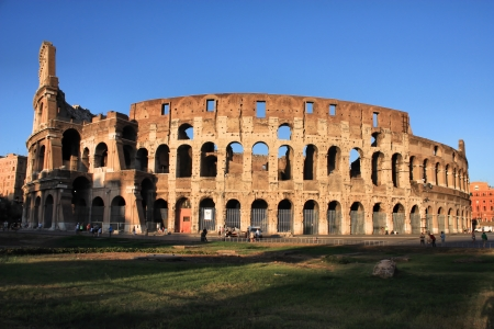 amphitheater: Colosseum in Rome, Italy. Early evening Stock Photo