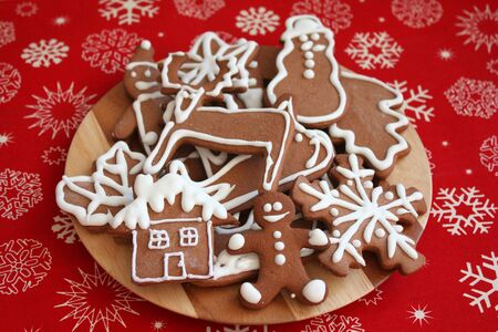 Christmas gingerbread cookies - various shapes photo