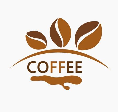 logos restaurantes: Granos de caf� de dise�o ilustraci�n