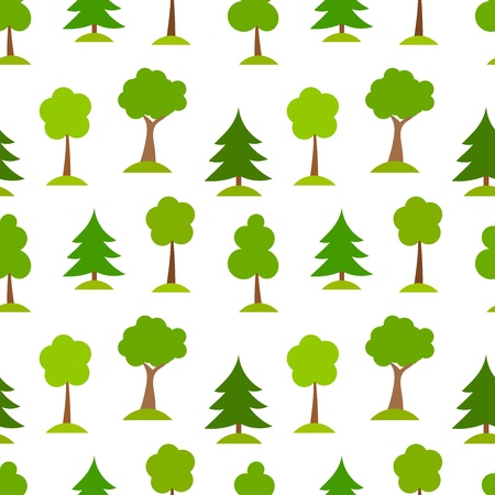conifers: Forest trees. Seamless patten