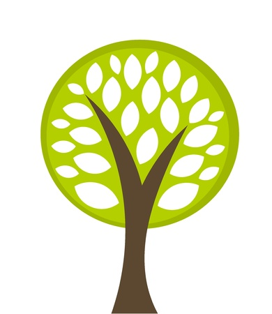 simple life: Eco tree symbol illustration Illustration