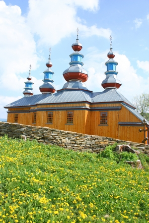 Wooden Eastern Orthodox Church in Komancza, south-eastern Poland photo